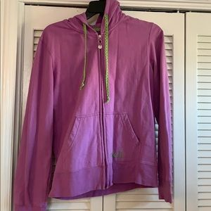 Purple zip up sweatshirt
